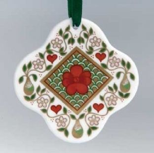 Royal Crown Derby  Scalloped Christmas Tree Decoration / Bauble